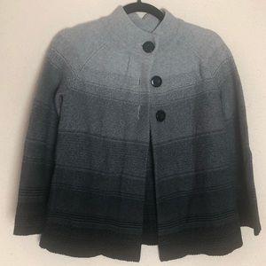 JM Collection Grey Ombré Button Cardigan